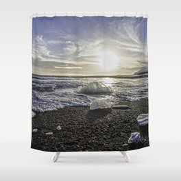 Jokulsarlon Lagoon Beach 06 Shower Curtain