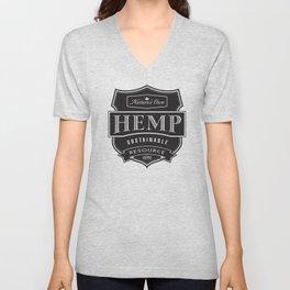 Herb brand Hemp shield Unisex V-Neck