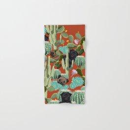 Cactus and Pugs Hand & Bath Towel