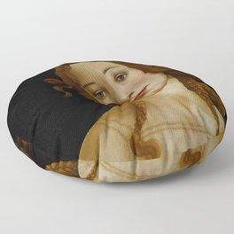 "Sandro Botticelli ""Venus"" (Sabauda Gallery, Turin) Floor Pillow"