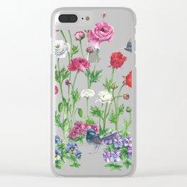 Poppys&Blue Wren Clear iPhone Case