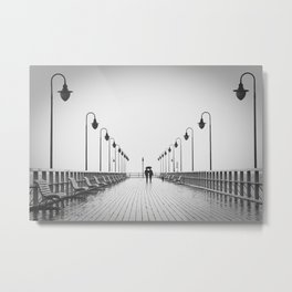 In Love On the Pier Metal Print