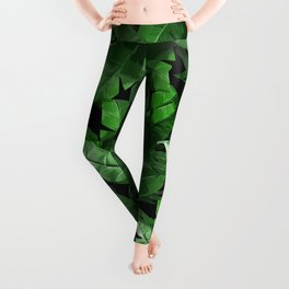 Tropical Palm Print #3 Leggings
