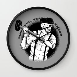 Blood, Toil, Tears, and Sweat Wall Clock