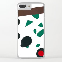 Abstract Shapes Clear iPhone Case