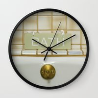 bath Wall Clocks featuring Bath by Misspeden
