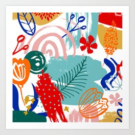 Spring Festival, Botanical, Floral Abstract Art Print