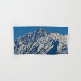 Fresh snow on the mountains of Jasper National Park Hand & Bath Towel