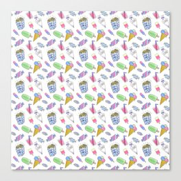 Birthday party candy art Canvas Print