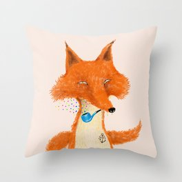 Fox III Throw Pillow