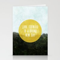 brand new Stationery Cards featuring Brand New Day by serenefolio