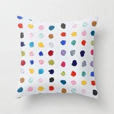 Polka Daubs Throw Pillow
