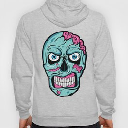 Scary Zombie Face with Rotting and Peeling Flesh Hoody