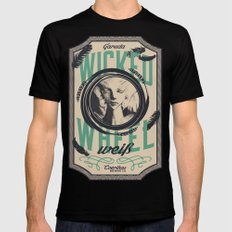 Wicked Wheel Weiß  | FFXIV Mens Fitted Tee Black SMALL