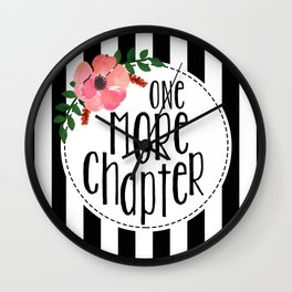 One More Chapter - Black Stripes Wall Clock