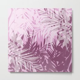 Pink tropical background Metal Print
