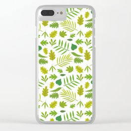 Hojas verdes Clear iPhone Case