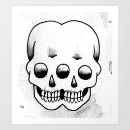 Double Skull Art Print