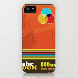 Homage to home movies in red iPhone Case