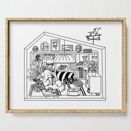 Fanciful Dog House Serving Tray