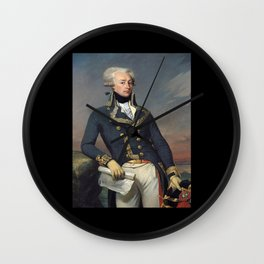 Portrait of Lafayette by Joseph désiré Court Wall Clock