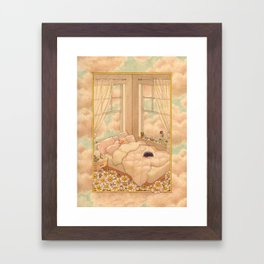 Bed in the Clouds Framed Art Print