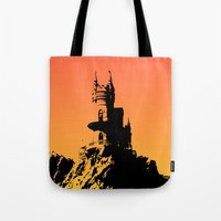 castle Tote Bags featuring Castle by Julia Badeeva
