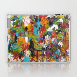 """The Abstract Mediterranean"" Acrylic Painting by Noora Elkoussy Laptop & iPad Skin"