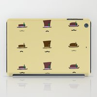 hats iPad Cases featuring Hats & Moustaches by Jakob Berger