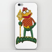 aquaman iPhone & iPod Skins featuring Scooter the Aquaman by JoshEssel