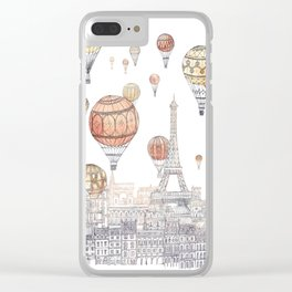 Voyages Over Paris ~ Refresh Clear iPhone Case