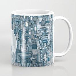 space city mono blue Coffee Mug