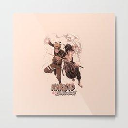 Naruto X Sasuke Metal Print