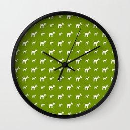 Llama 1- Green Wall Clock
