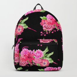 A FLORAL LOVE  (BLK) Backpack