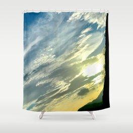 Evening Sunset Landscape II / Road Mountainside Trip Shower Curtain