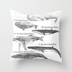 I. The Folio Whale Throw Pillow