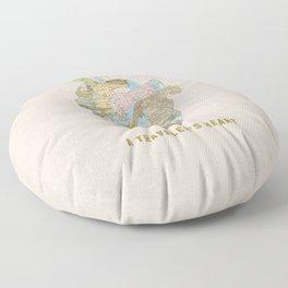 A Traveler's Heart Floor Pillow