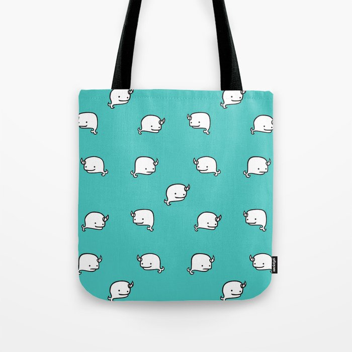 Narwhal Pattern Tote Bag