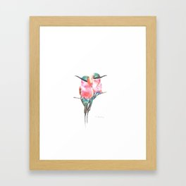 Northern Carmine bee-eaters Framed Art Print