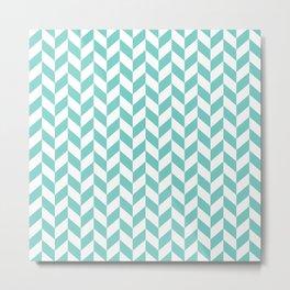 Tiffany Herringbone Pattern Metal Print