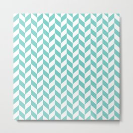 Tiffany Herringbone Pattern Metal Print