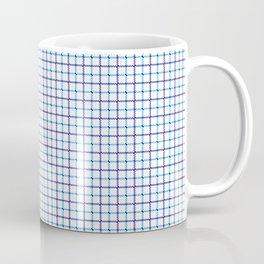 Small Blue & White Large Tattersall Check Pattern Coffee Mug
