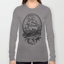 GUIDED BY WHALES Long Sleeve T-shirt