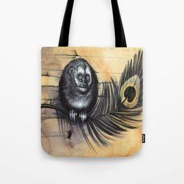 Owl Monkey Tote Bag