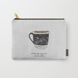 I Like Big Cups, Coffee Illustration Carry-All Pouch