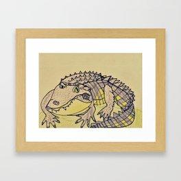 Grumpy Gator Framed Art Print