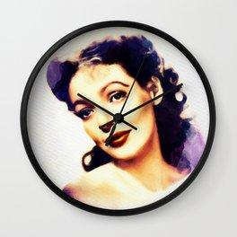 Loretta Young, Vintage Actress Wall Clock