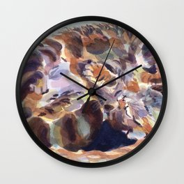 Soundly Roundly Wall Clock