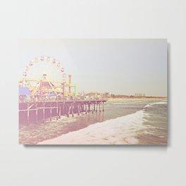 Santa Monica Pier Vintage Metal Print